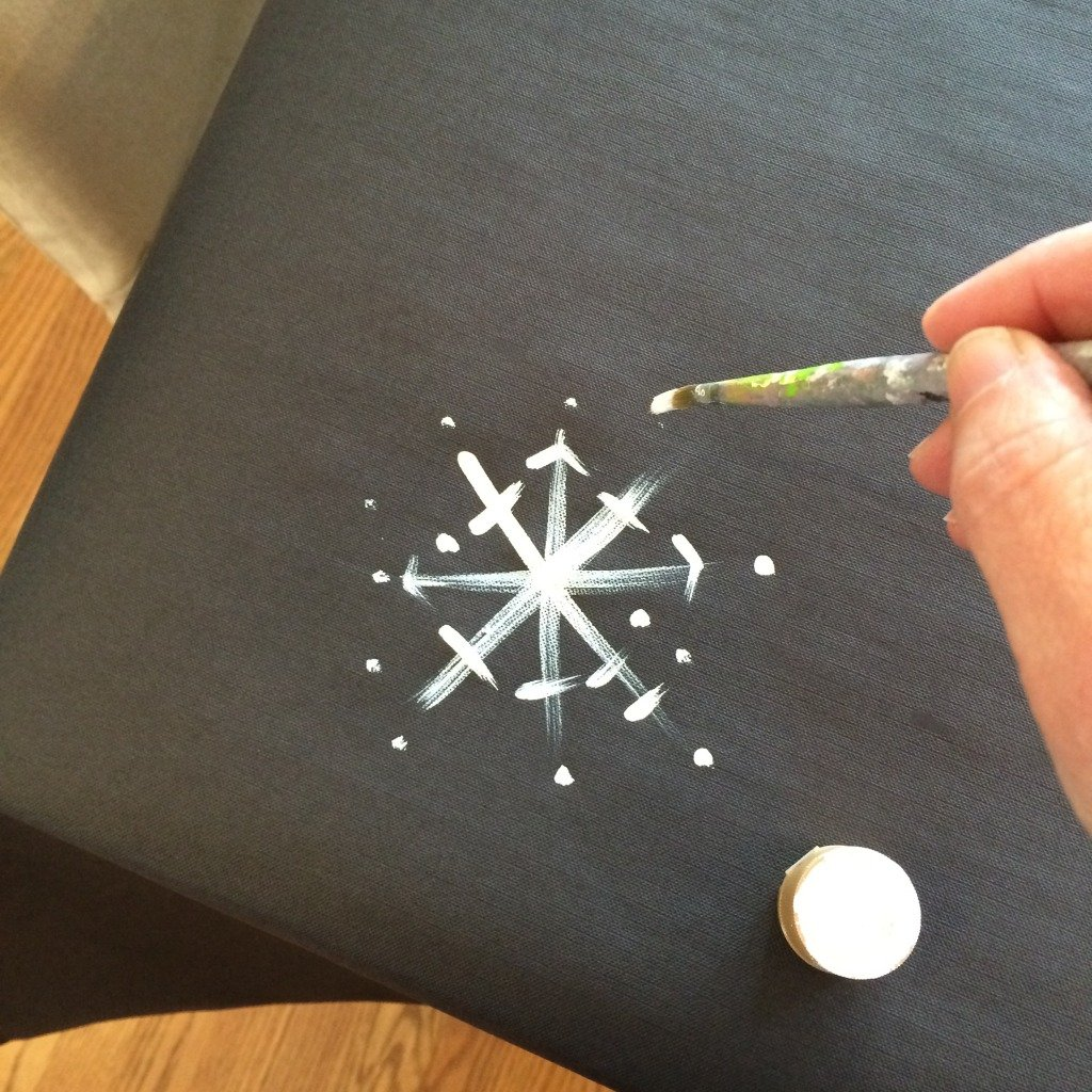 Adding snowflake touches