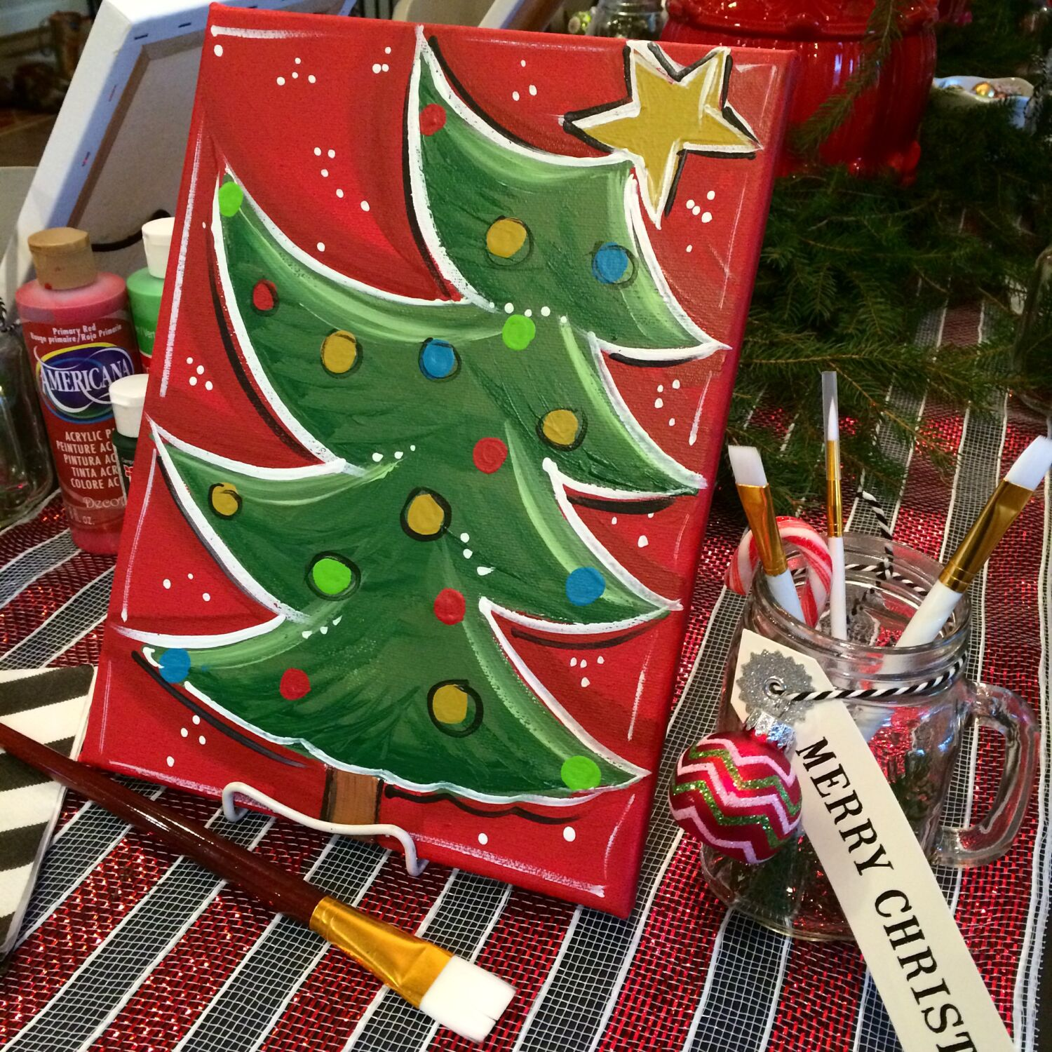 How To Host A Girl S Night Christmas Painting Party
