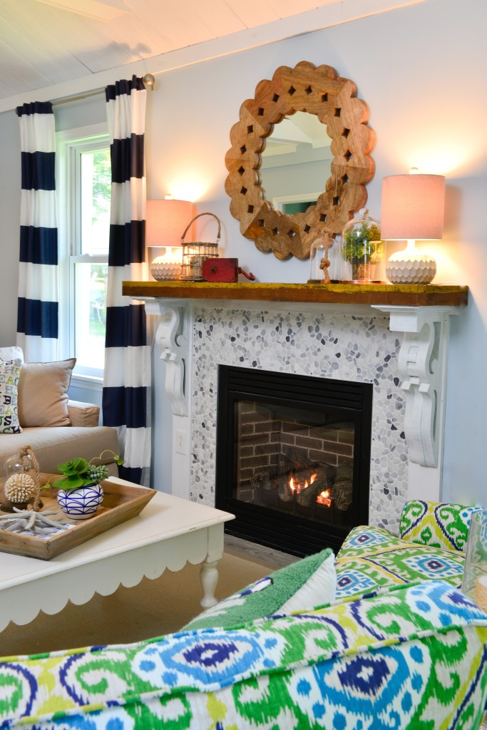 The fireplace DIY makeover at the Itsy Bitsy Cottage