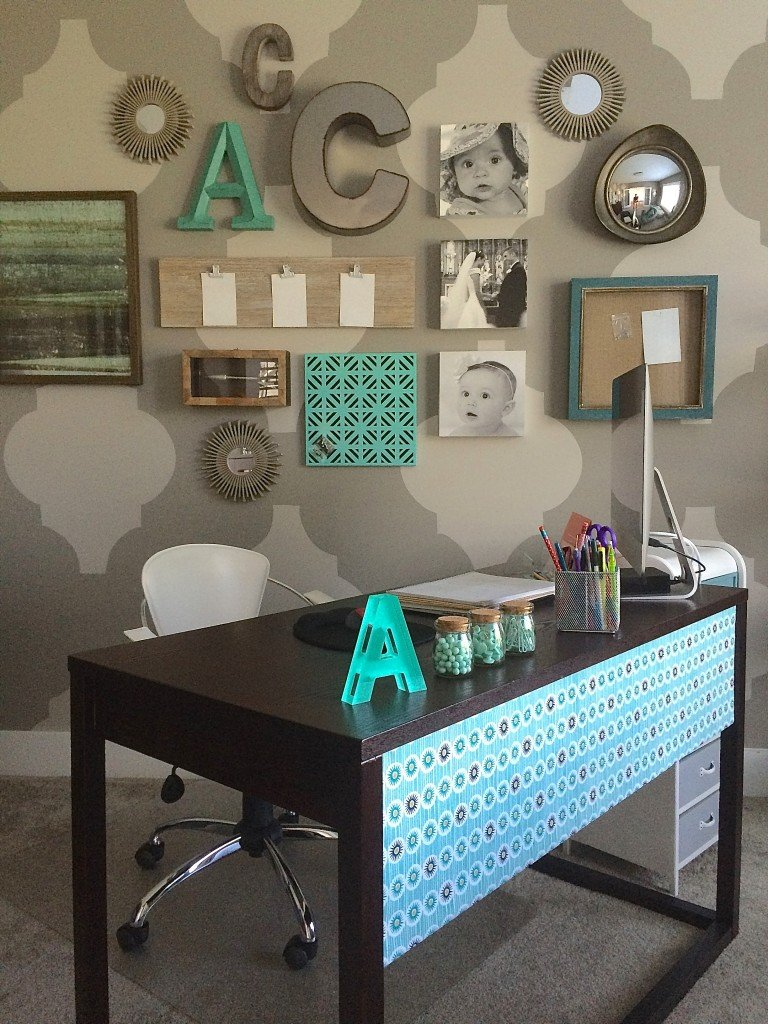 Chic and function DIY back to school mom office makeover