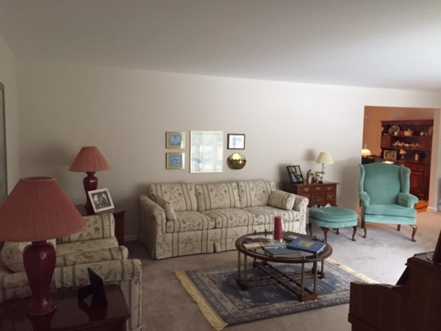 Before and After Family living room makeover