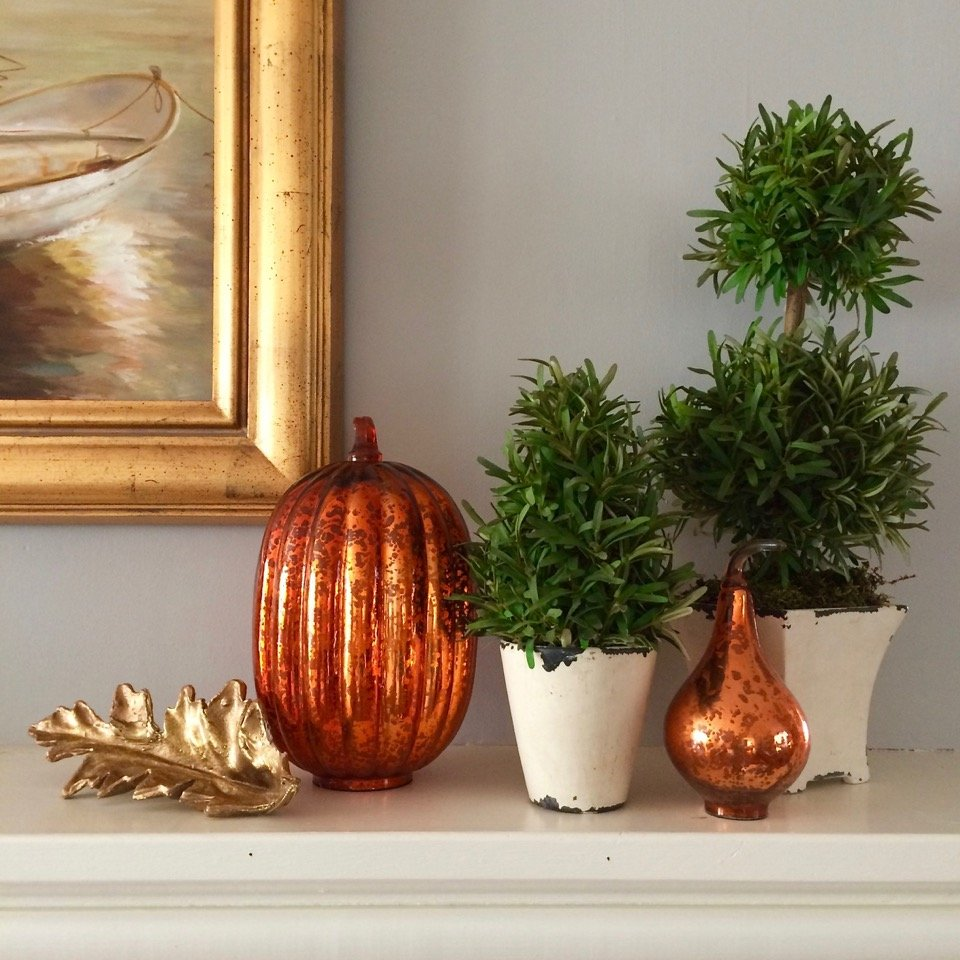 Fall decor for your mantel from Meme Hill Studio