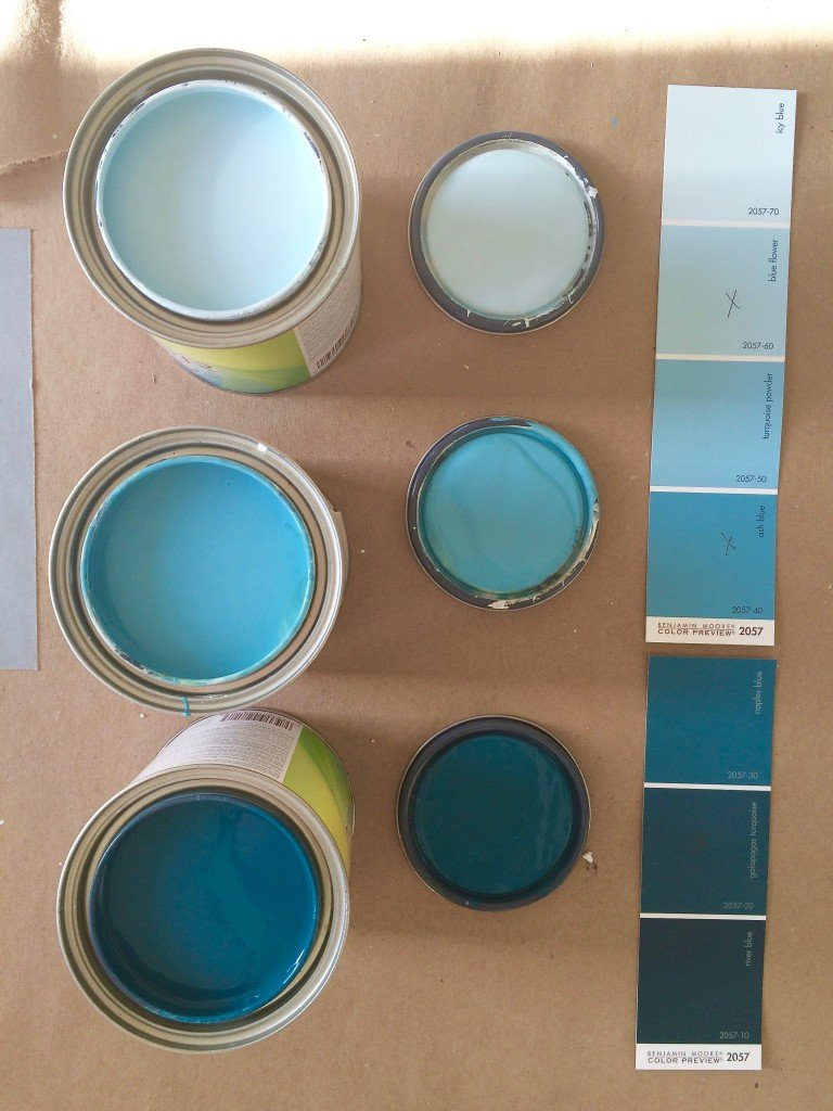 picking out the perfect benjamin moore turquoise colors for painting an ombre wall mural