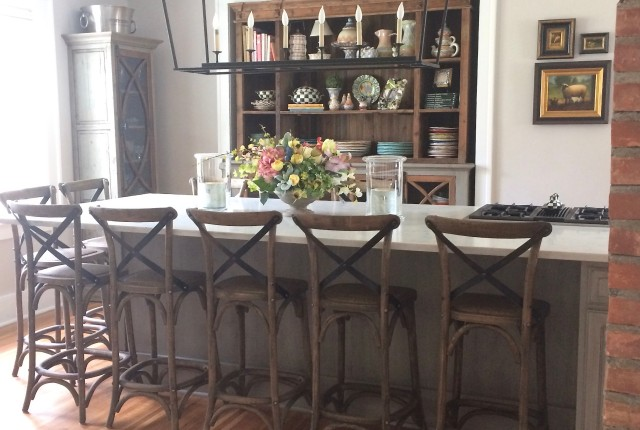 tearing down the wall in the kitchen, creating a farmhouse kitchen