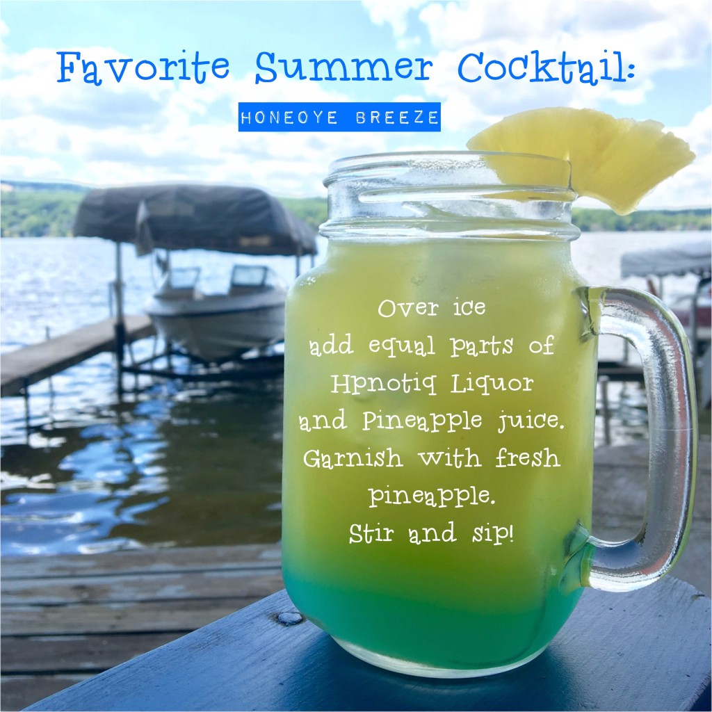 Summer Home Tour: It's a Shore Thing. Honeoye Breeze cocktail recipe