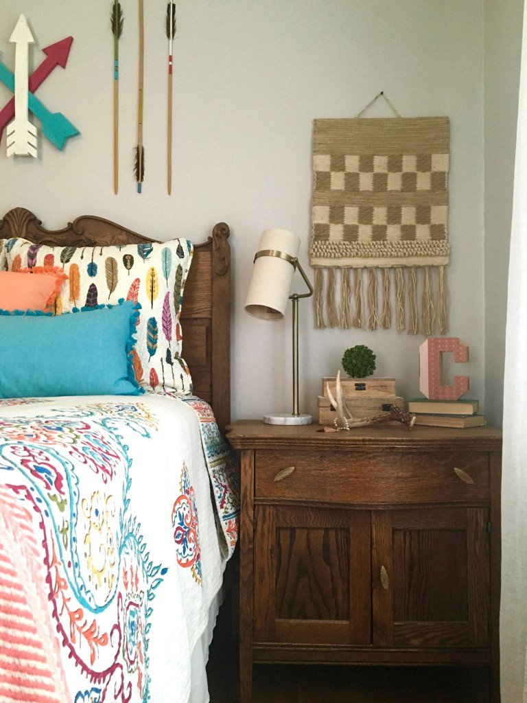 boho_chic_bohemian_bedding_bedroom_teen_makeover_elepahont_decor_adventure_bedding_arrows_the_dotted_bow_pillow_macrme