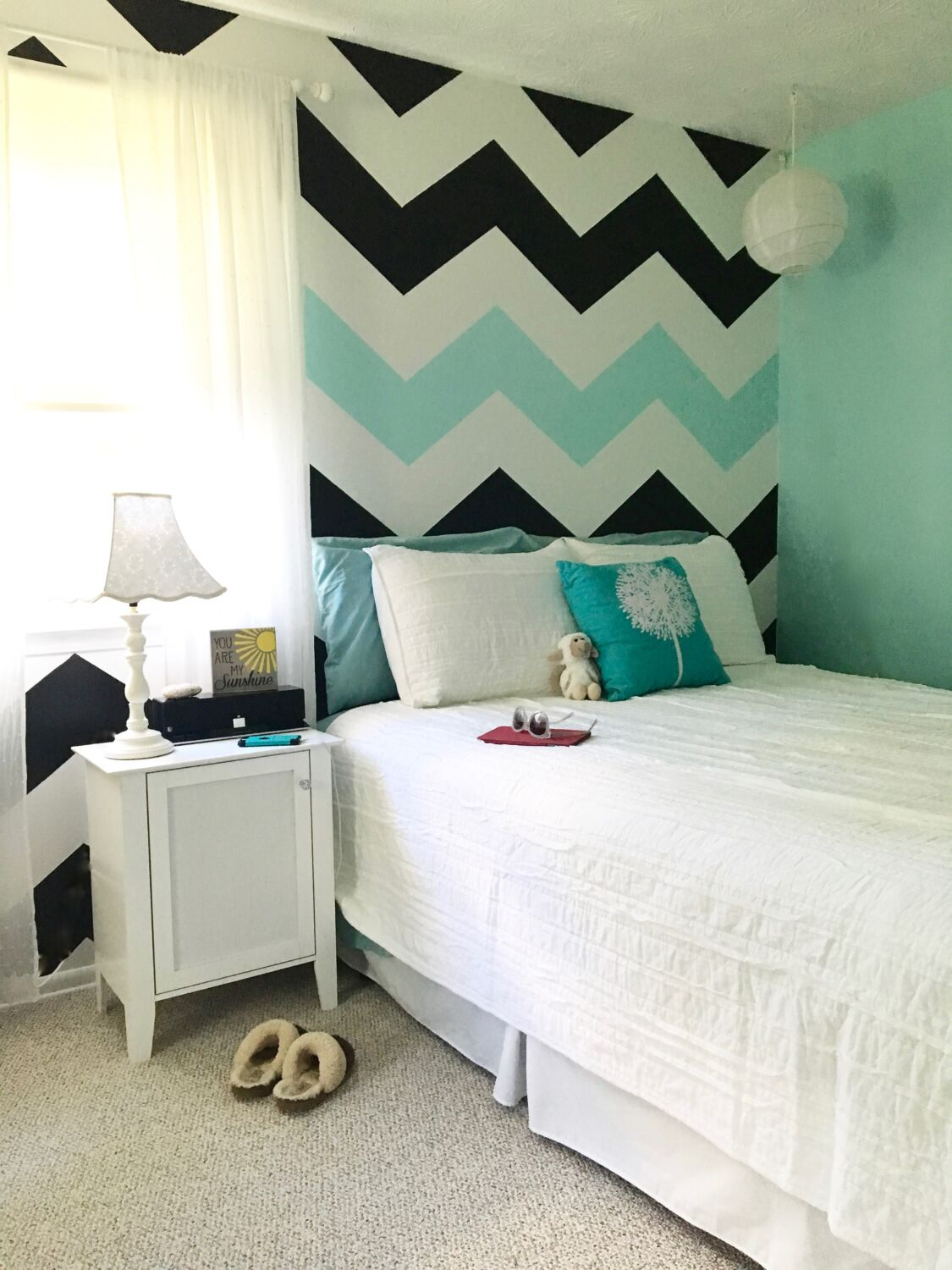 How-to Paint Chevron Stripes