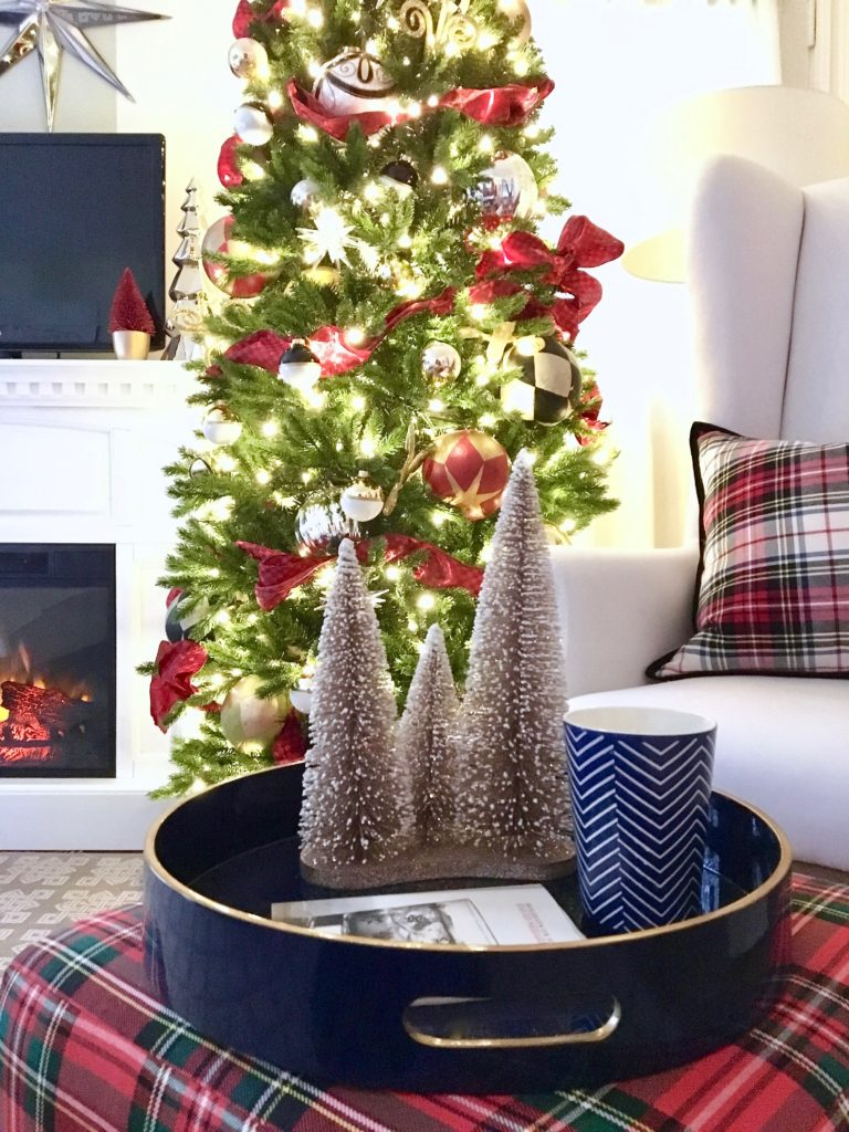 christmas-decorating-ideas-master-bedroom-homegoods-plaid-tree-cozy-ornaments
