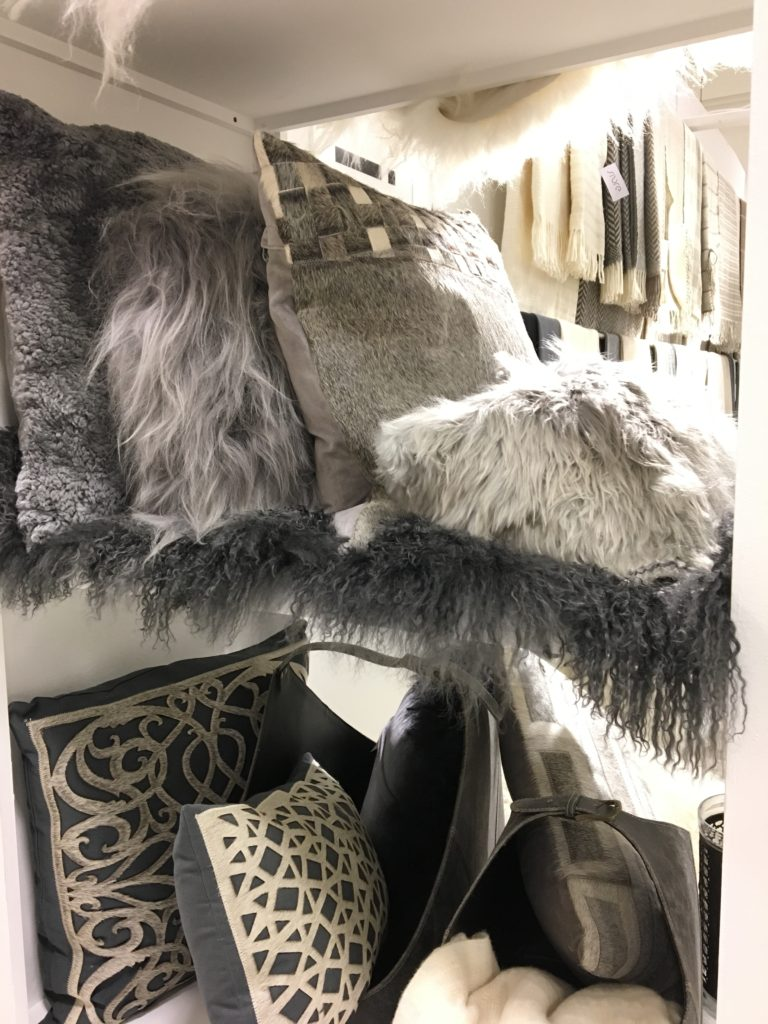 Home-decor-decorating-trends-2017-accent-pillows-gray-animal-prints-faux-fur
