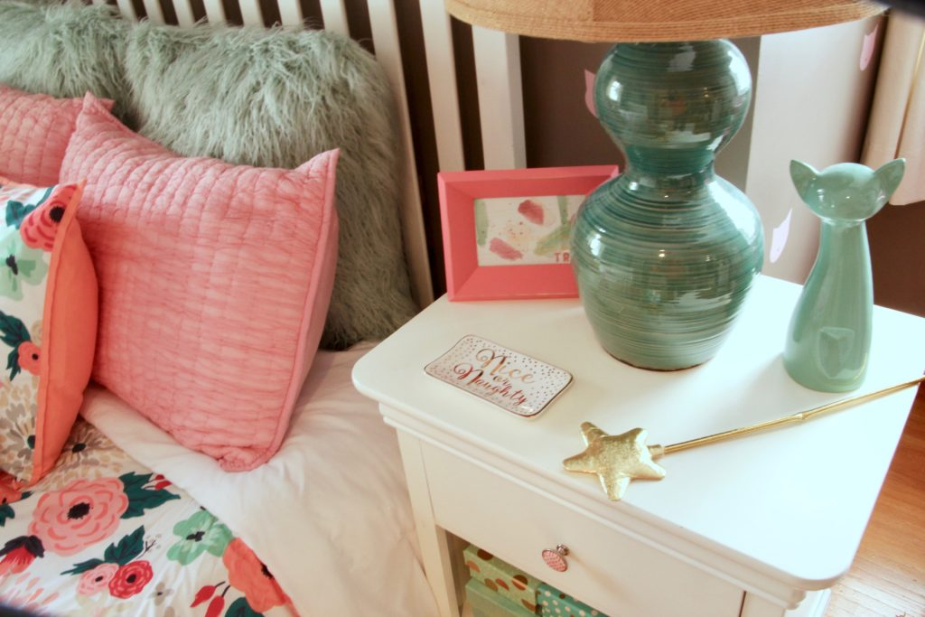 Sherwin_williams_poised_taupe_color_year_bedding_gold_land_nod_Homegoods_target_Pink-Mint_green_girls_room_Cute_princess