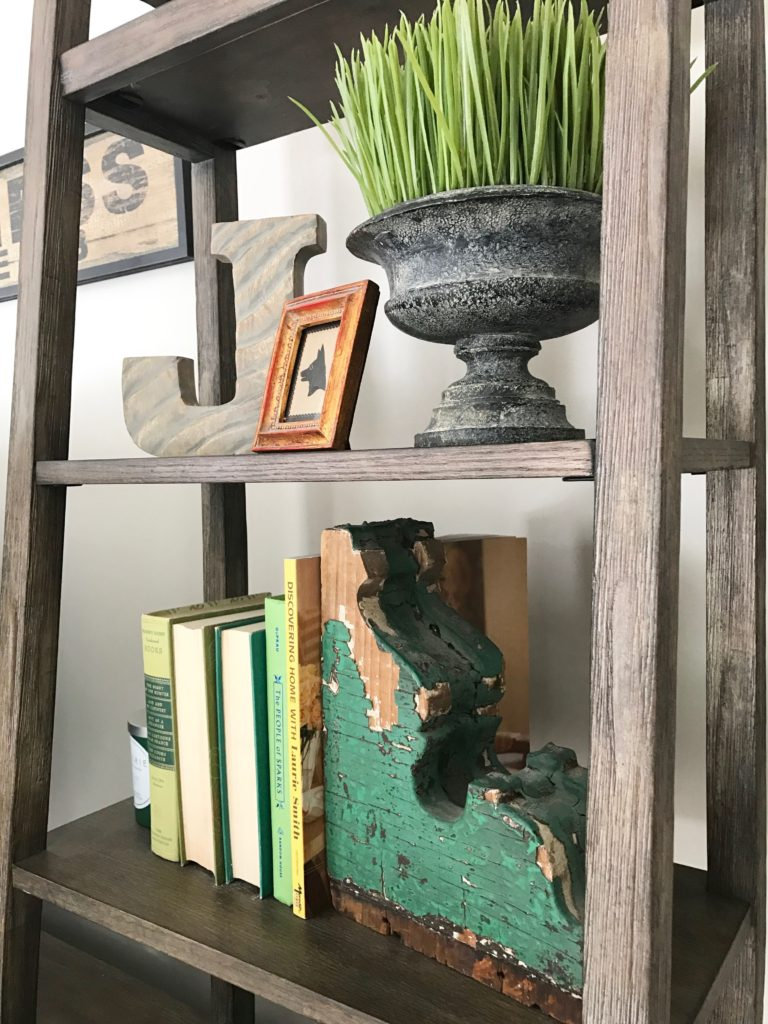 slipcovered_furniture_Lakeside_chair_ottoman_Raymour_flanigan_familyroom_interior_design_rustic_farmhouse_style_TV_console_media_cabinet_wyatt_bookshelf_hardware_barn_door_corbel