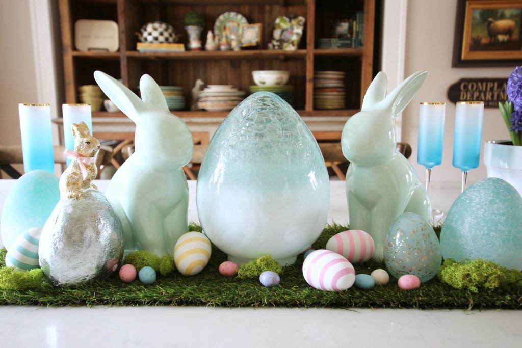 HomeGoods_Easter_eggs_turquoise_glass_painted_Rabbits_meme_hill_studio