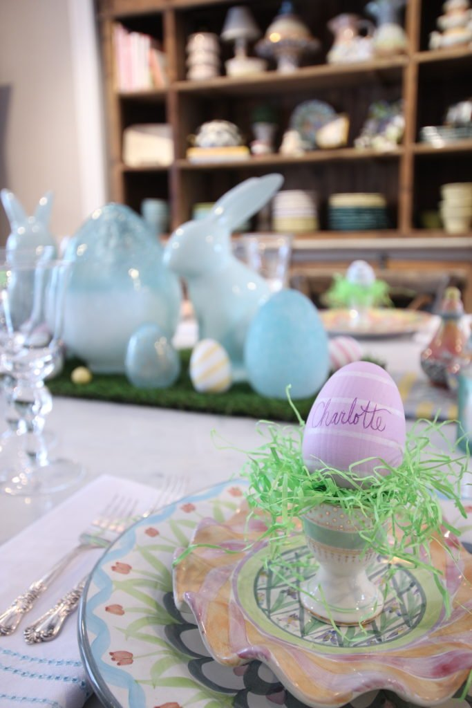 HomeGoods_Easter_eggs_turquoise_glass_painted_Rabbits_meme_hill_studio_kitchen_crocus_mackenzie_childs_dinnerware