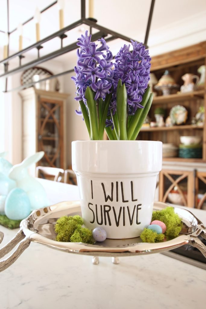HomeGoods_Easter_eggs_turquoise_glass_painted_Rabbits_meme_hill_studio_plants_moss
