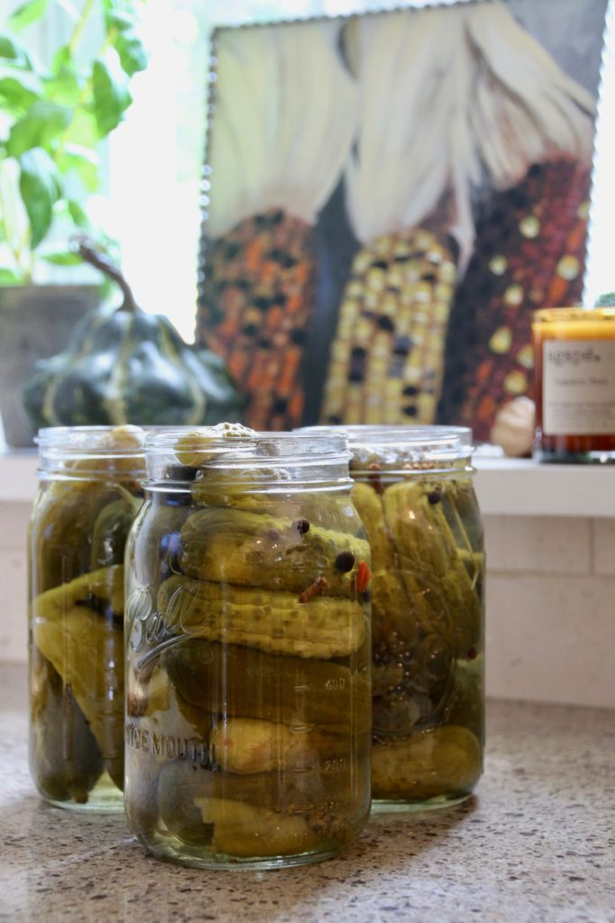 Fall_Blogger_home_tour_living_room_neutral_decor_autumn_colors_meme_hill_Amie_freling_HomeGoods_agape_candle_canning_pickles_corn_art_gourd_mason_jar_kitchen