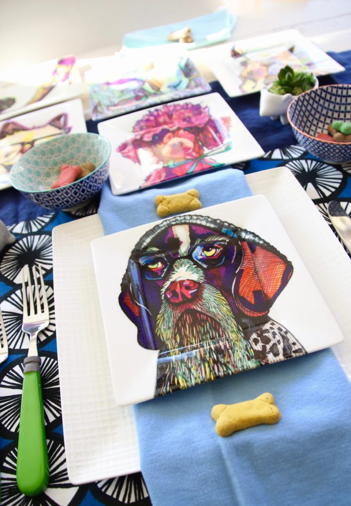 kaaren_anderson_Solvieg_studio_meme_hill_dog_portraits_plates_colorful_sharpie