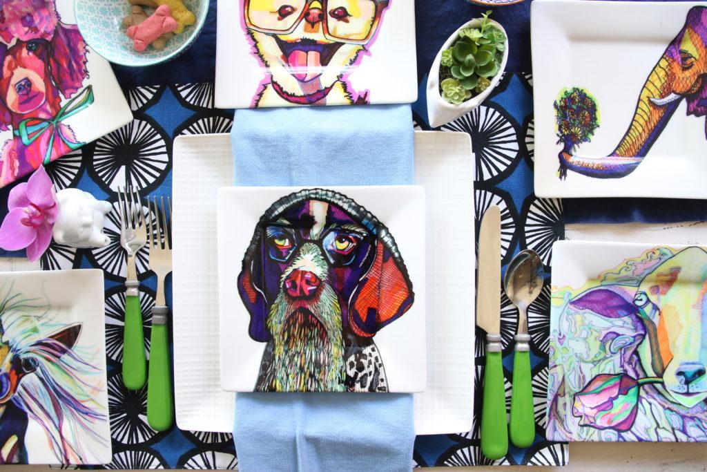 kaaren_anderson_Solvieg_studio_meme_hill_dog_portraits_plates_flatlay_colorful