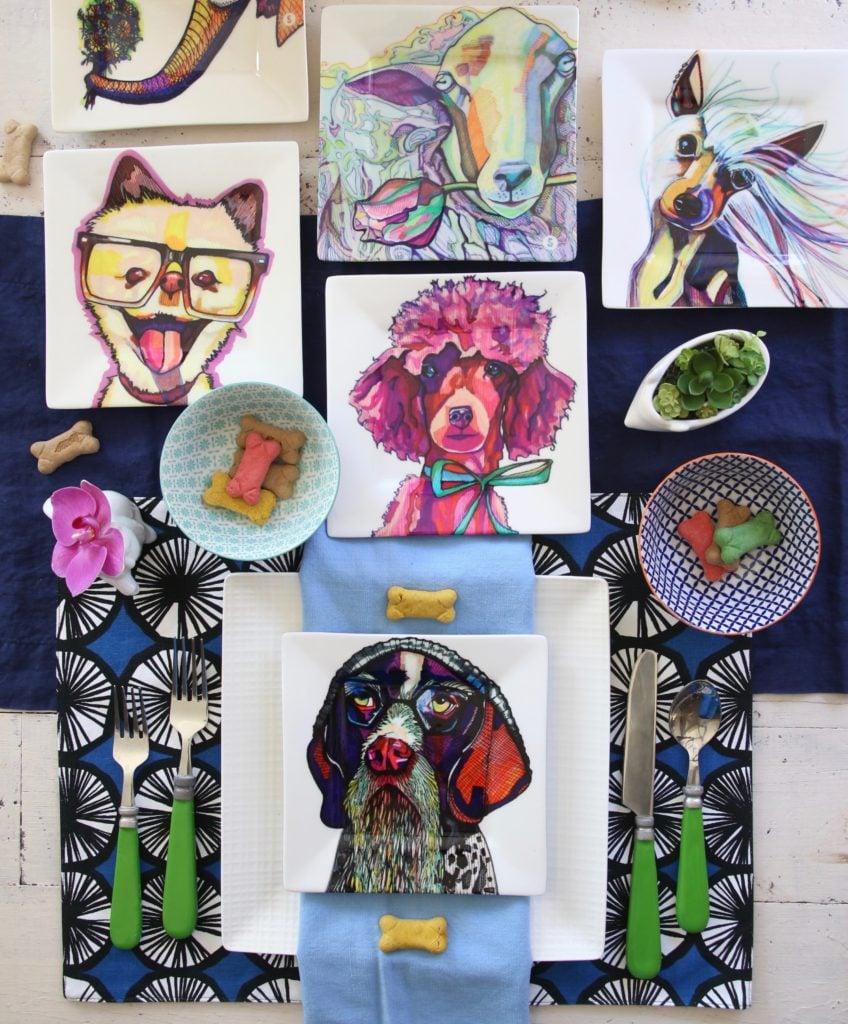 kaaren_anderson_Solvieg_studio_meme_hill_dog_portraits_plates_tablescape_fun_bones_buscuits