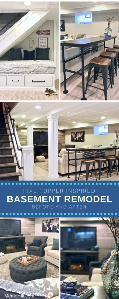 Farmhouse_Basement_renovation_fixer_upper_remodel_rustic elements and metal iron details for this family