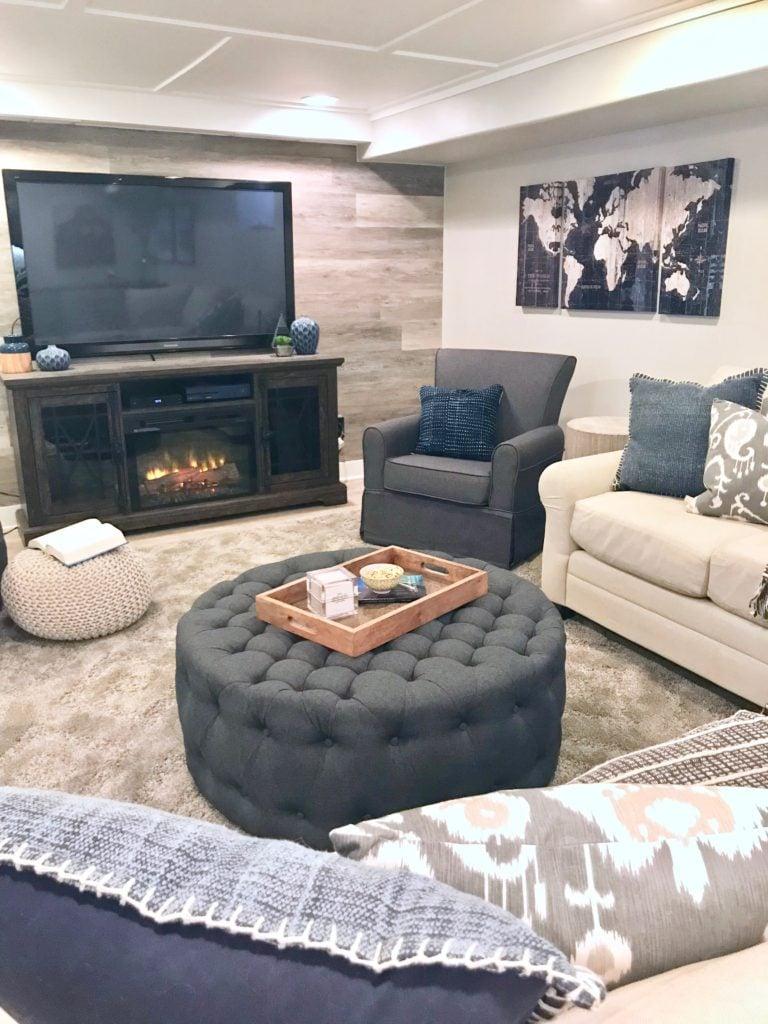 Meme_HIll_studio_Basement_remodel_renovation_. A family friendly and budget friendly basement renovation.
