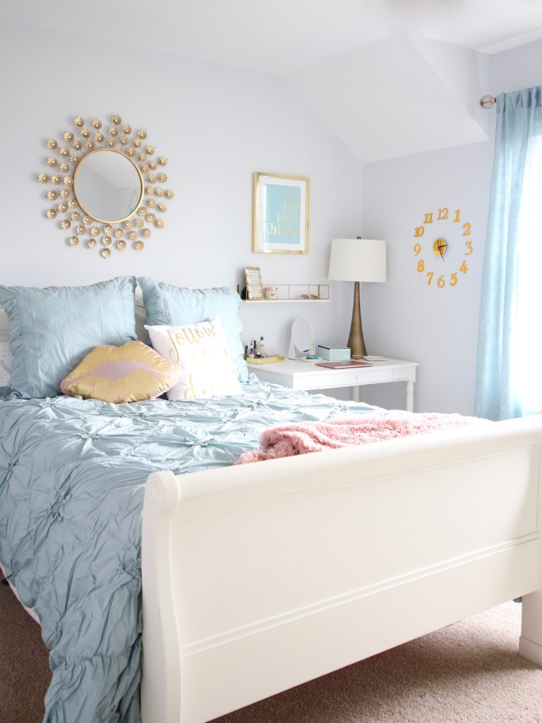 Designing_Teen_room_to_Last_white_furniture_makeover_bedroom_MemeHIll_studio_amie_freling_decorating_ideas_lighting_turquoise_pink_gold_gray_chic