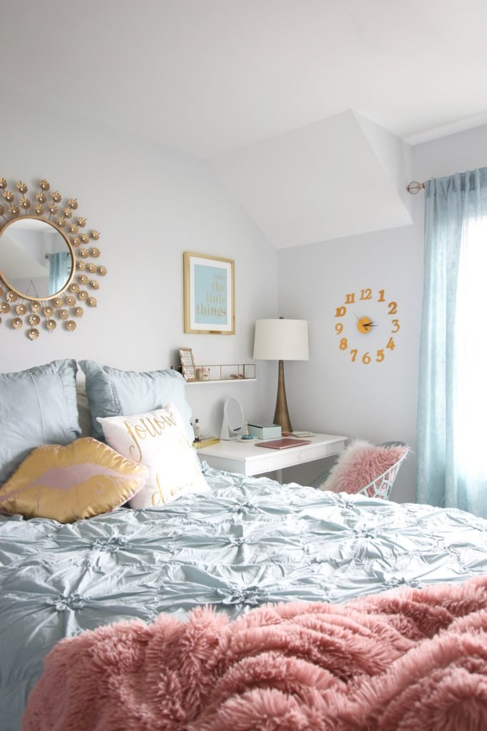 Designing_Teen_room_to_Last_white_furniture_makeover_bedroom_MemeHIll_studio_amie_freling_decorating_ideas_lighting_turquoise_pink_gold_lamps