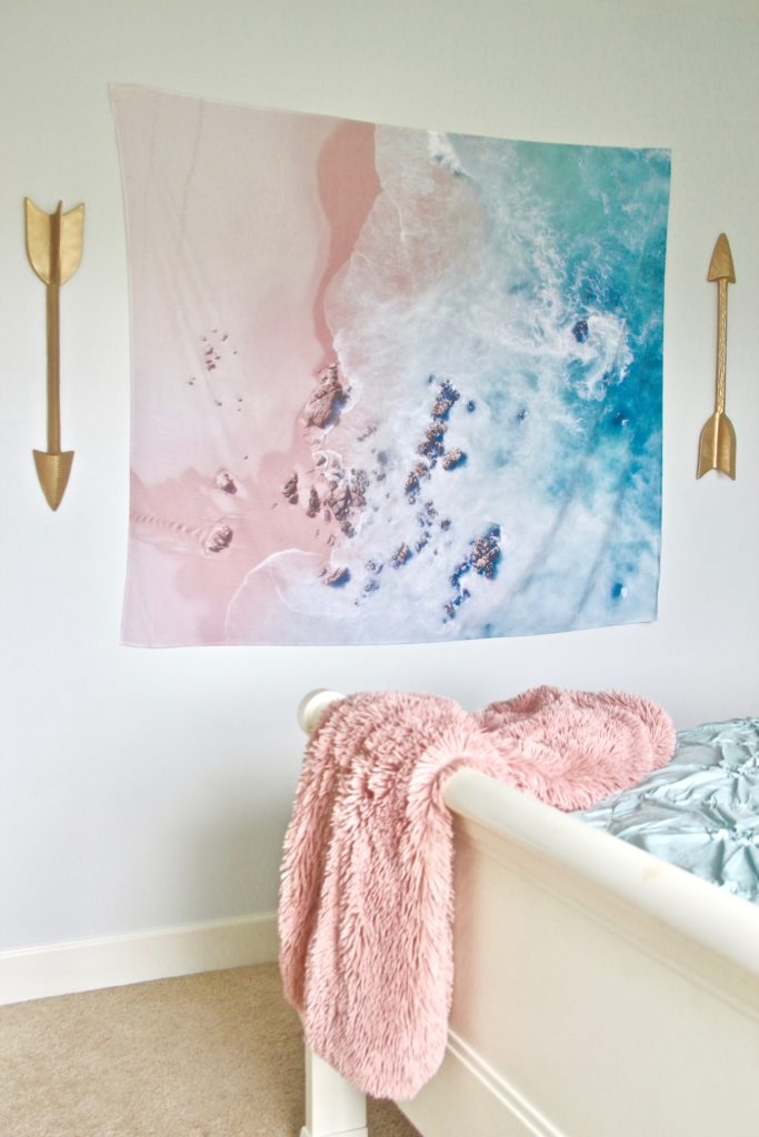 Designing_Teen_room_to_Last_white_furniture_makeover_bedroom_MemeHIll_studio_amie_freling_decorating_ideas_lighting_turquoise_pink_gold_society_6_tapestry_blush