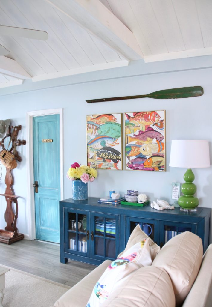 Meme_HIll_Studio_Amie_Freling_Summer_Lake_House_Blogger_Home_Tour_Cottage_Living_Coastal_decor_Aquitaine_accent_cabinet_Raymour_flanigan