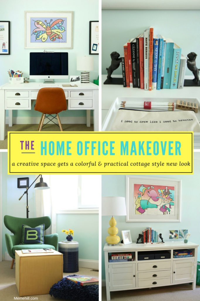 home office ideas, decorating a home office, art at home