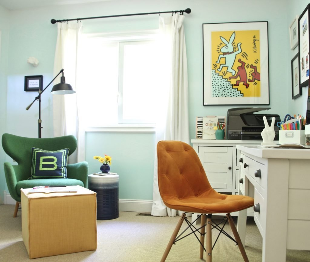 See what happens when a boring home office gets a practical ...