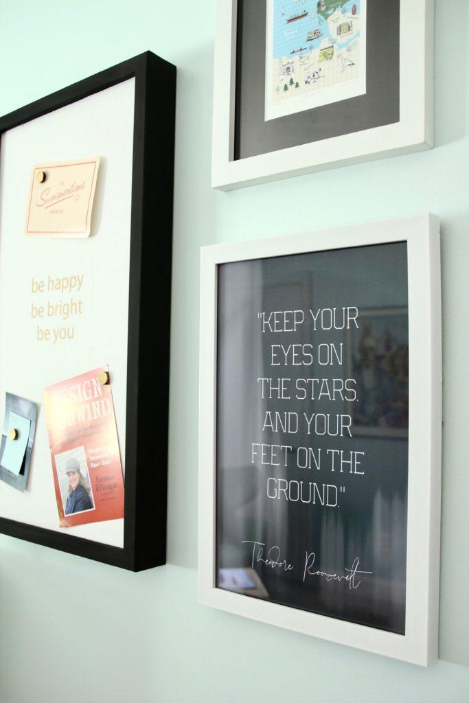 teddy roosevelt quotes, inspirational art, chalkboard art, gallery wall ideas