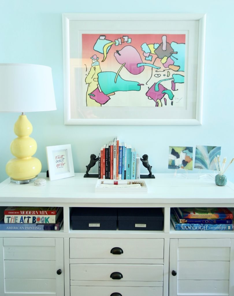 A Boring Home Office Gets A Practical Bright Colorful Makeover
