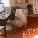 messy artist drafting table, before home office images, mismatched home office furniture