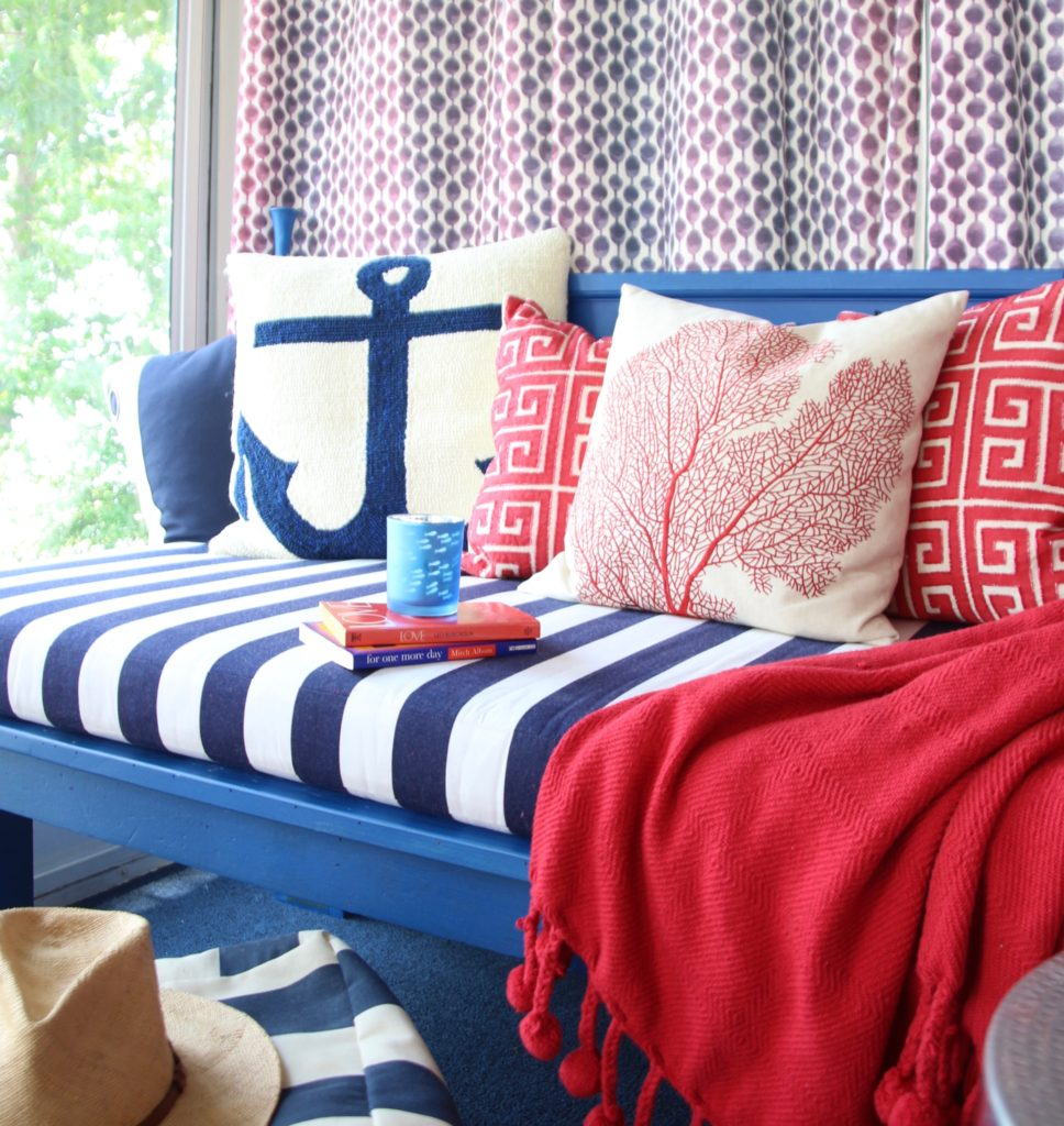Meme_HIll_studio_amie_freling_Summer_decorating_ideas_Patio_porch_cottage_lakehouse_Patriotic_home_decor_cushion_pillow_nautcial_Lane_stripes_coastal