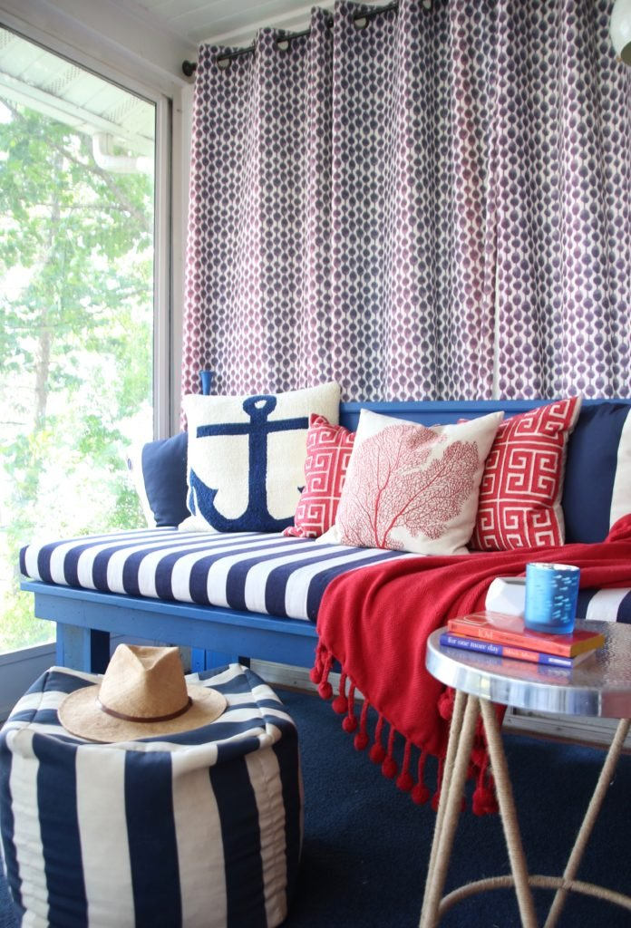 Meme_HIll_studio_amie_freling_Summer_decorating_ideas_Patio_porch_cottage_lakehouse_Patriotic_home_decor_cushion_pillow_nautcial_Lane_stripes_cottage