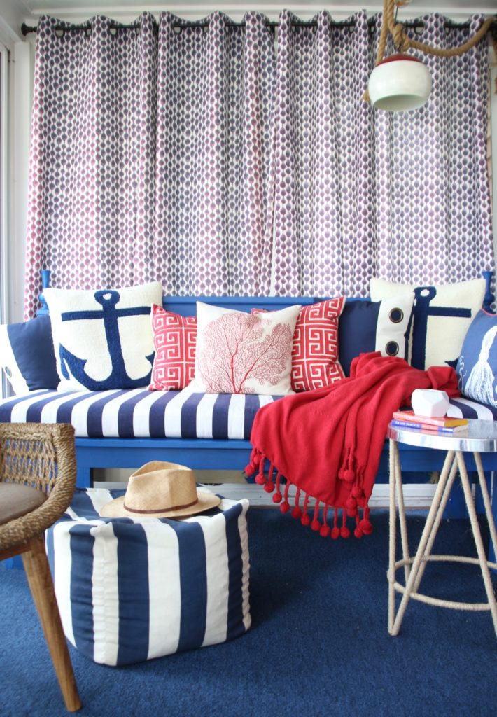 Meme_HIll_studio_amie_freling_Summer_decorating_ideas_Patio_porch_cottage_lakehouse_Patriotic_home_decor_cushion_pillow_nautcial_Lane_stripes_red_white_blue