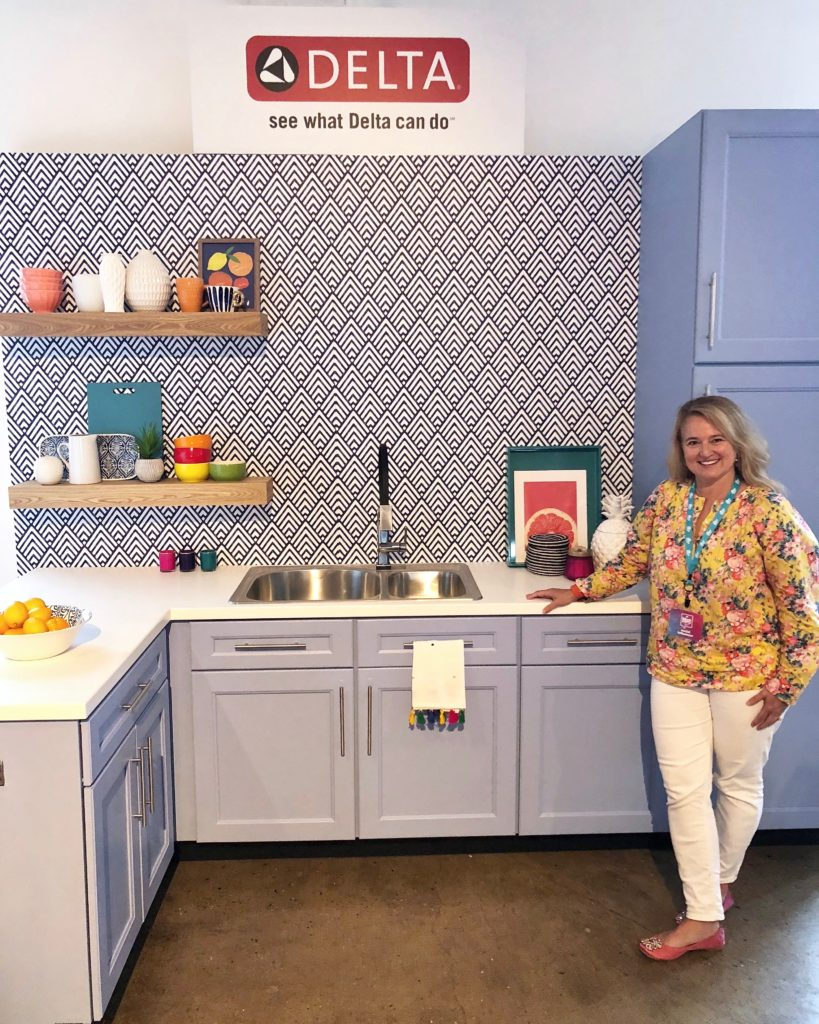 , hgtv magazine, blogger block party, who's at the hgtv block party, Delta faucet and hgtv, delta faucet blogger, kitchen shelf styling, delta faucet kitchen ideas, cool delta faucets, Amie Freling , meme Hill studio and HGtv