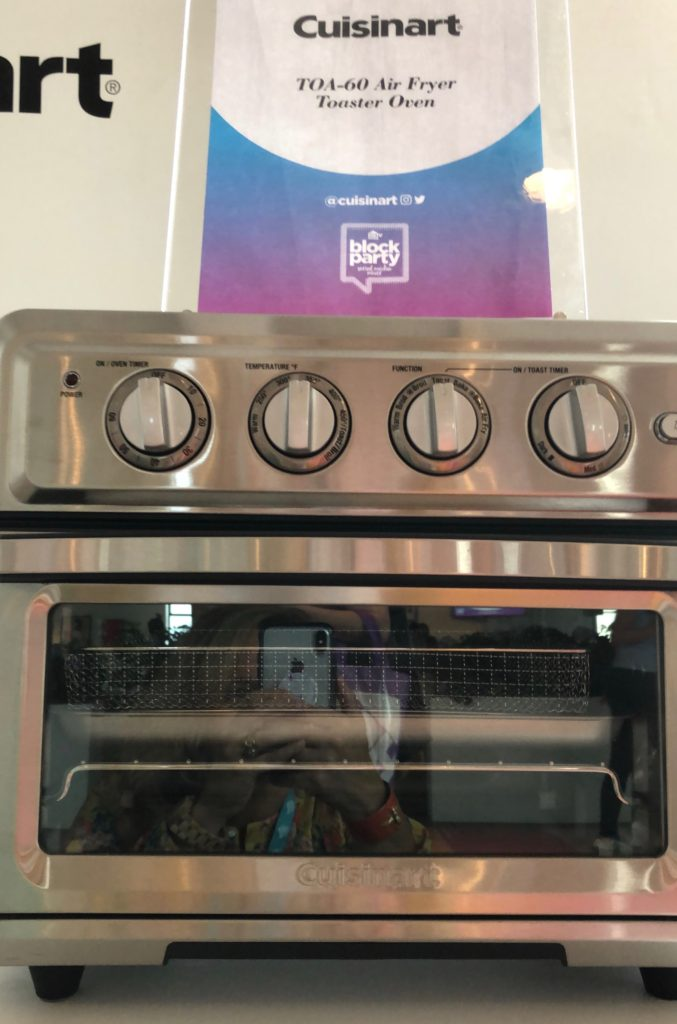 hgtv magazine block party, cuisinart toaster oven, cuisinart air fryer