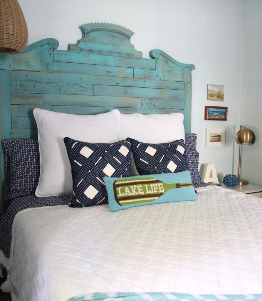 navy accent pillows and bedding