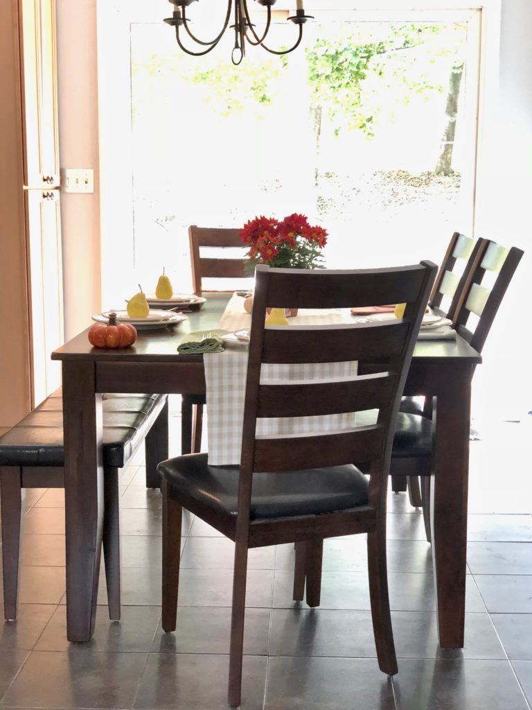 leather and wood chairs, family friendly dining sets