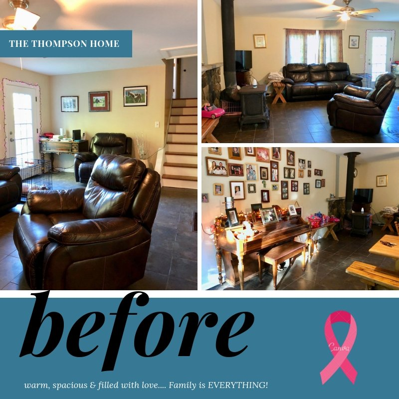 breast cancer awareness room makeover,