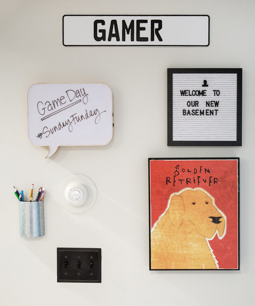 gamer, farmhouse style basement remodeling ideas, message walls, gallery wall ideas