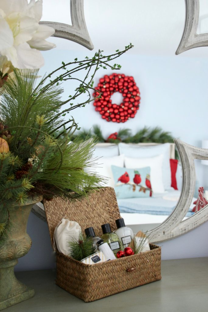 gift baskets, housewarming gift ideas, guest room ideas