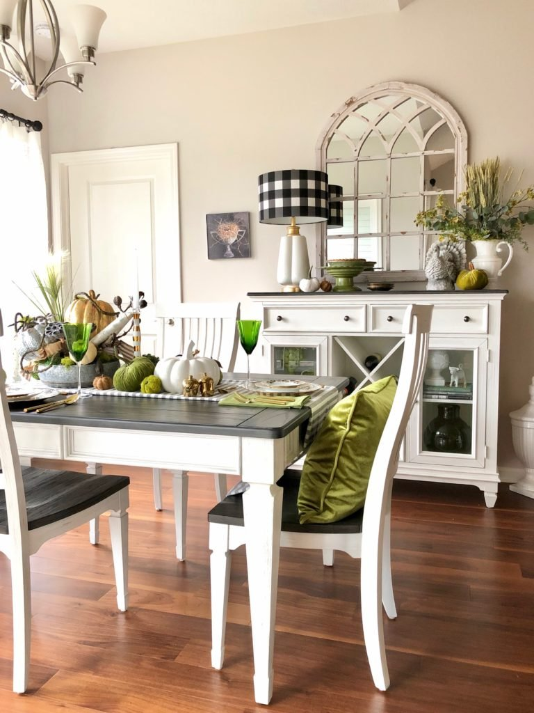 white farmhouse table