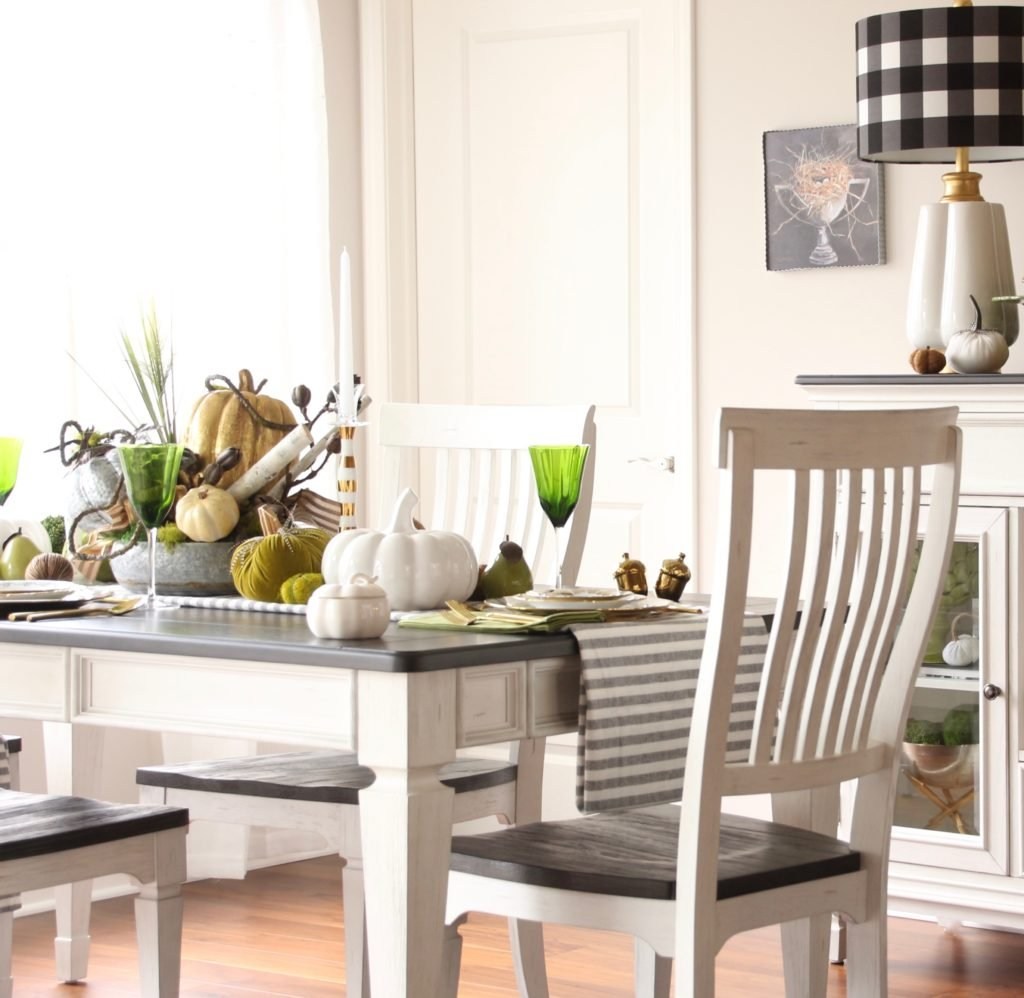 thanksgiving table ideas, fixer upper style dining room