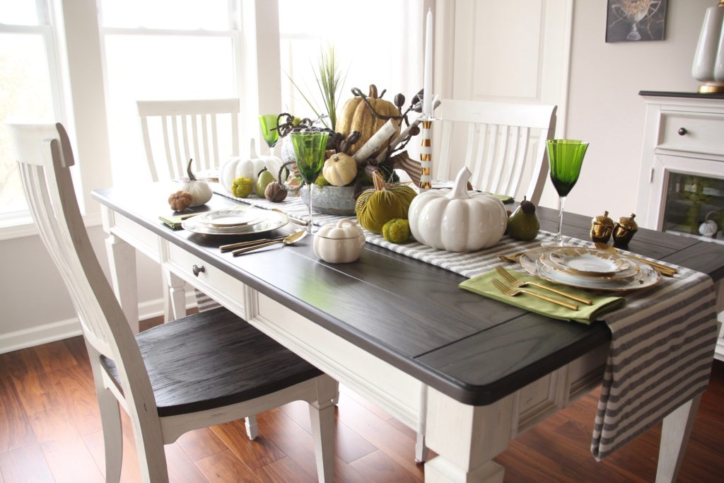 neutral farmhouse style dining tables