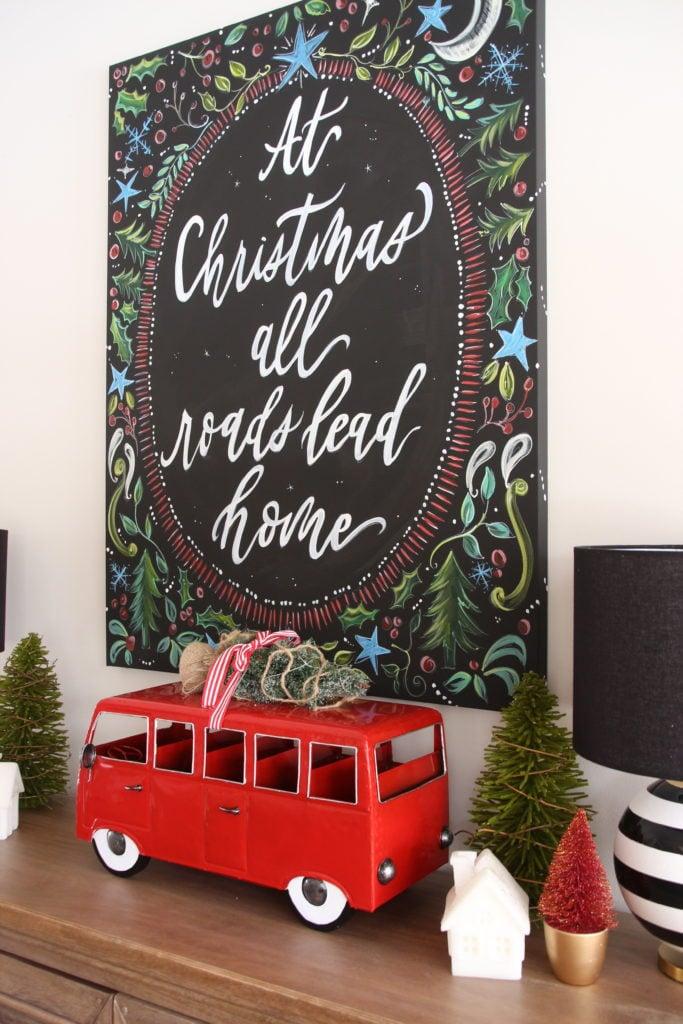 chalkboard christmas art, cute christmas decorations