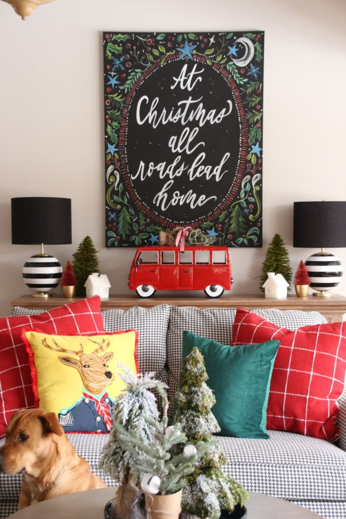 chalkboard art for christmas, at home for the holidays, christmas pillows cute