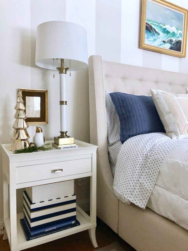 under the canopy bedding bed bath and beyond, decorating your master bedroom, using navy in decor, gorgeous bedrooms, bedroom christmas trees,