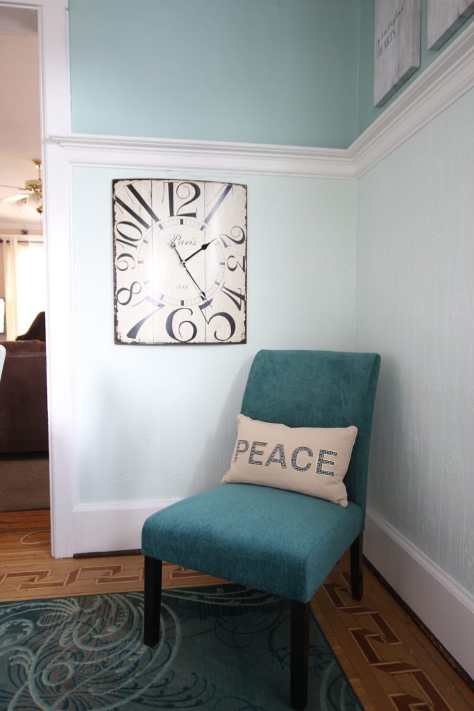 raymour flanigan clocks, turquoise accent chairs